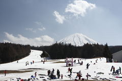 Mount Fuji. Located on Honshu Island, is the highest mountain in Japan royalty free stock photos