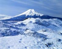 Mount Fuji LVII. Cool winter view of Mount Fuji Stock Image