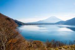 Mount Fuji at Motosu Japan Stock Image