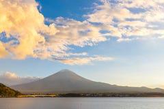 Mount Fuji. Mountain Fuji, the highest mountain in Japan. View from Lake Kawaguchi (Kawaguchigo royalty free stock images
