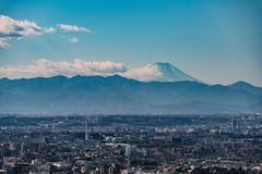 Mount Fuji From Observation Deck Shinjuku Royalty Free Stock Photo