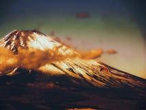 Mt. Fuji, famous japanese landmark at sunset royalty free stock photo