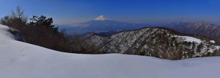 Mount Fuji of panorama from the mountain`Mitsutouge` Japan Stock Image