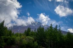 Mount Fuji Peak Japan Summit Stock Photo