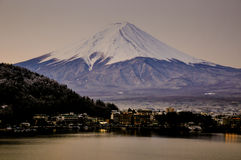 Mount fuji san at Lake kawaguchiko in japan. Royalty Free Stock Photography