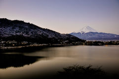 Mount fuji san at Lake kawaguchiko in japan. Royalty Free Stock Images