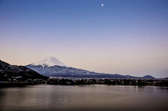 Mount fuji san at Lake kawaguchiko in japan. Stock Photography