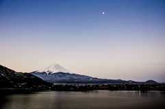 Mount fuji san at Lake kawaguchiko in japan. Royalty Free Stock Photo