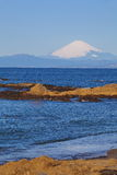 Mount Fuji and the sea Stock Photography