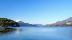 Mount Fuji sjö Ashinoko, Hakone, Japan fotografering för bildbyråer