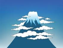 Mount Fuji with sky Stock Photos