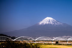 Mount Fuji with snow-covered Stock Photos