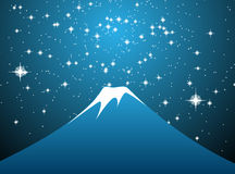 Mount Fuji stars  Royalty Free Stock Photo