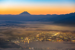 Mount Fuji Sunrise Royalty Free Stock Photo