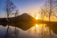 Mount Fuji Sunrise Royalty Free Stock Photos