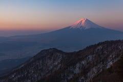 Mount Fuji during sunrise time Royalty Free Stock Photography