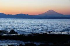 Mount Fuji at sunset Stock Image