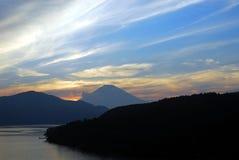 Mount Fuji sunset Royalty Free Stock Photo
