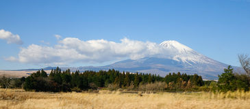 Mount Fuji, view from Gotemba station in Japan Stock Photo
