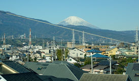 Mount Fuji, view from Gotemba station in Japan Royalty Free Stock Photo