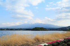 Mount Fuji, view from Lake Kawaguchiko Royalty Free Stock Images