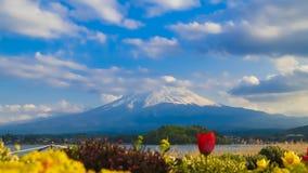 Mount Fuji, view from Lake Kawaguchiko, Japan. 4K Timelapse Mount Fuji, view from Lake Kawaguchiko, Japan stock video footage