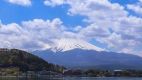 Mount Fuji, view from Lake Kawaguchiko, Japan. Timelapse Mount Fuji, view from Lake Kawaguchiko, Japan stock footage
