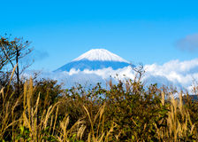 Mount Fuji. A view of Mountain Fuji from Owakudani, Hakone Royalty Free Stock Image