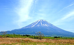 Mount Fuji. A view of Mount Fuji taken from the Asagiri Plateau to the southwest of Mount Fuji Royalty Free Stock Photography