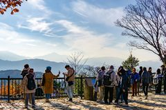 Mount Fuji View From Top of Mount Takao Takao-San, TOKYO, JAPA stock photo