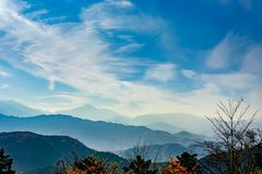 Mount Fuji View From Top of Mount Takao Takao-San, TOKYO, JAPA. N royalty free stock image