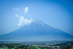 Mount Fuji, Japan. Mount Fuji volcano landscape under a blue sky. Japan royalty free stock images