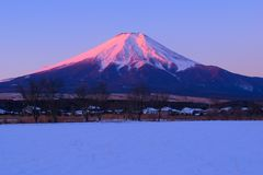 Mount Fuji from Oshino village stock photos