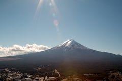 Mount Fuji in winter season royalty free stock image