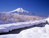 Mount Fuji XXXII. A brisk Japanese winter landscape Royalty Free Stock Photos