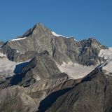 Mount Gabelhorn, Zermatt. View from Gornergrat, Switzerland royalty free stock photos