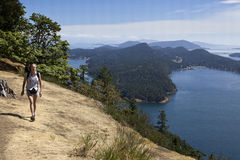Mount Galiano trail  Royalty Free Stock Photography