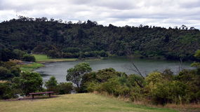 The Mount Gambier Valley Lake is a hidden gem. Amongst the crater lakes in Mount Gambier, South Australia Royalty Free Stock Images