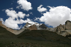 Mount Gang Rinpoche (Kailash). Tibetan plateau Royalty Free Stock Photos