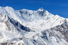 Mount Ganggapurna, Annapurna range Royalty Free Stock Image
