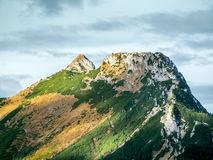 Mount Giewont in the Tatra mountains Royalty Free Stock Image