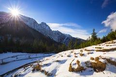 Mount Giewont in Tatra mountains. Poland Stock Photos