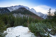 Mount Giewont in Tatra mountains Stock Photography