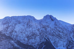 Mount Giewont in Tatra mountains at winter Royalty Free Stock Photo