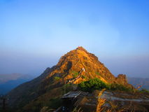 Mount Girnar in Sunset light Royalty Free Stock Images