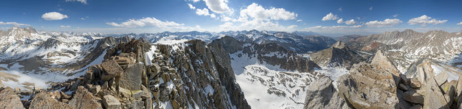 Mount Goode Summit Panorama Royalty Free Stock Images