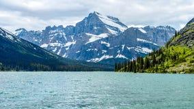 Mount Gould at Lake Josephine Stock Photo