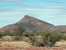 Mount Gould, in the Southern Gascoyne Mineral Field, W.A. Mount Gould, in the Southern Gascoyne Mineral Field, also Includes a Jail royalty free stock photo