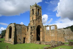 Mount Grace Priory. The remains the the Carthusian priory -  Mount Grace Priory in North Yorkshire, England Royalty Free Stock Photo