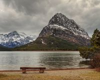 Mount Grinnell in Glacier National Park Stock Photography
